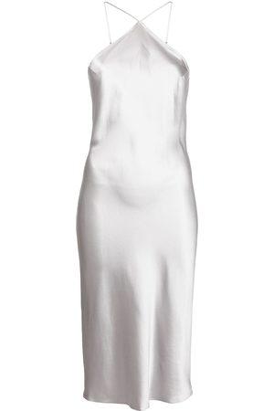 FLEUR DU MAL Women Casual Dresses - Halterneck slip midi dress