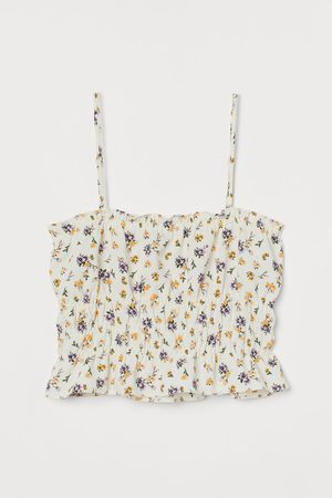 H&M Women Crop Tops - Smocked Crop Top