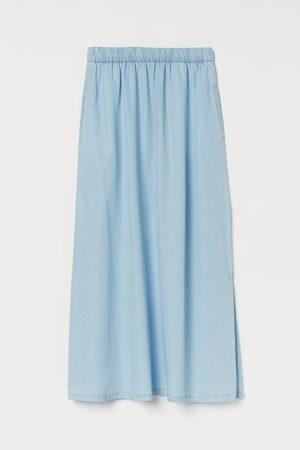 H&M Women Maxi Skirts - Slit-detail Skirt