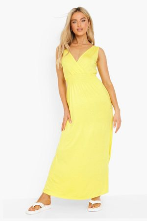 Boohoo Women Maxi Dresses - Womens Shirred Sleeveless Maxi Dress - - 4