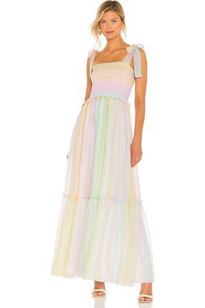 Amanda Uprichard Women Maxi Dresses - Lillet Maxi Dress in Pink,Yellow.