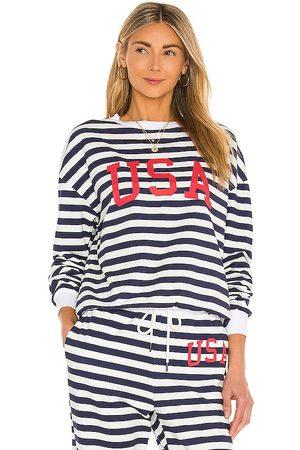 Beach Riot Women Sweatshirts - USA Sweatshirt in Navy.