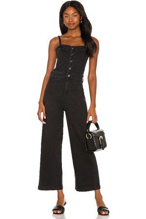 Paige Anessa Culotte Jumpsuit in Black.