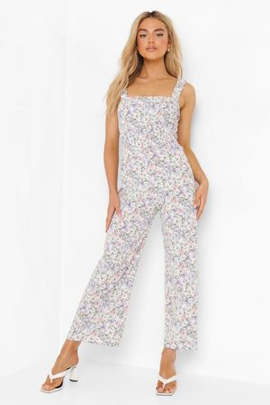 Boohoo Women Jumpsuits - Womens Ditsy Floral Strappy Jumpsuit - - 4
