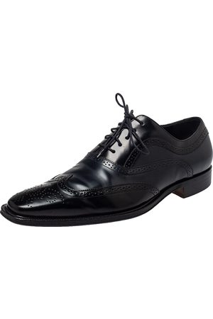 Dolce & Gabbana Men Brogues - Two Tone Brogue Leather Cap Toe Lace Up Oxford Size 44