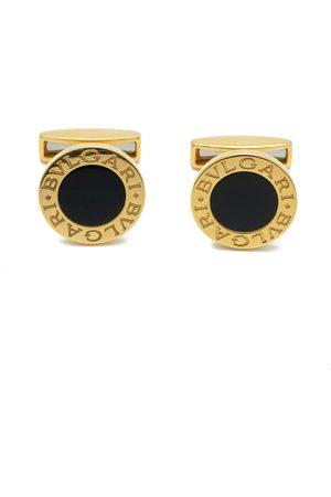 Bvlgari 18k Gold & Onyx Cufflinks
