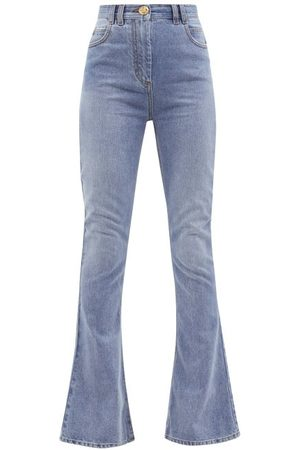 Balmain High-rise Flared Jeans - Womens - Denim