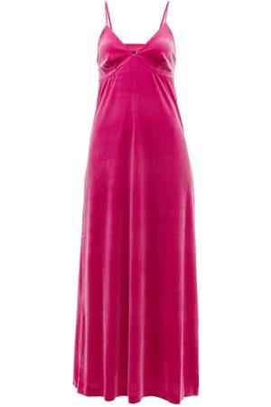 Norma Kamali Women Casual Dresses - Velvet Midi Slip Dress - Womens