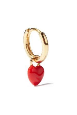 ALISON LOU Heart-charm 14kt Gold Single Hoop Earring - Womens - Multi