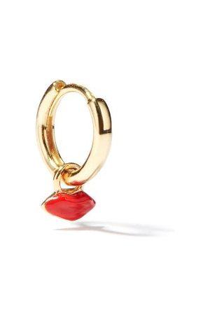 ALISON LOU Lips-charm 14kt Gold Single Hoop Earring - Womens - Multi