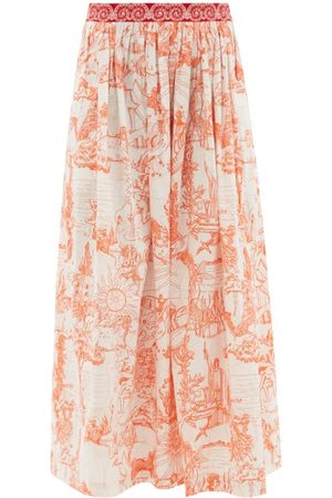 LE SIRENUSE, POSITANO New Jane Tarocchi-print Cotton Maxi Skirt - Womens