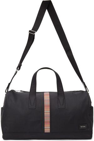 Paul Smith Men Luggage - Black Canvas Signature Stripe Duffle Bag