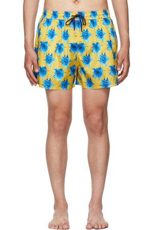 Paul Smith Yellow Monarch Rose Swim Shorts