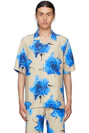 Paul Smith Beige & Blue Monarch Rose Short Sleeve Shirt