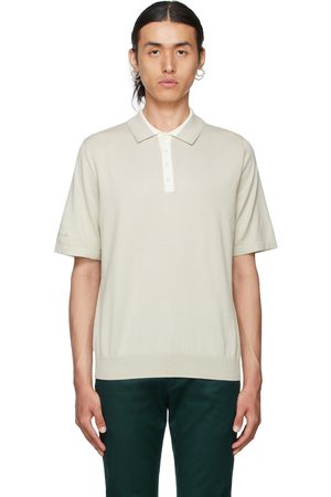Paul Smith Taupe Jersey Knit Polo