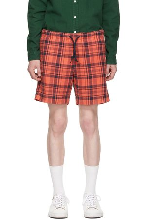 Paul Smith Red & Navy Cotton Linen Check Shorts