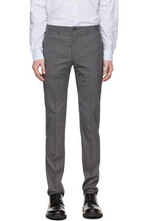 Paul Smith Grey Wool Slim-Fit Trousers