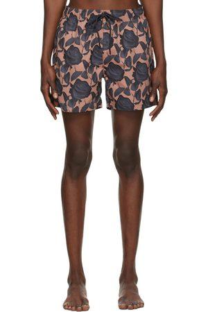 HUGO BOSS Brown Graphic Miso Swim Shorts
