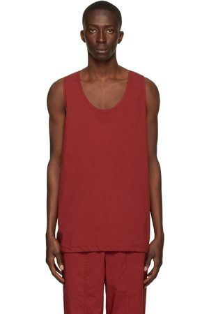 3.1 Phillip Lim Red Side-Zip Muscle Tank Top