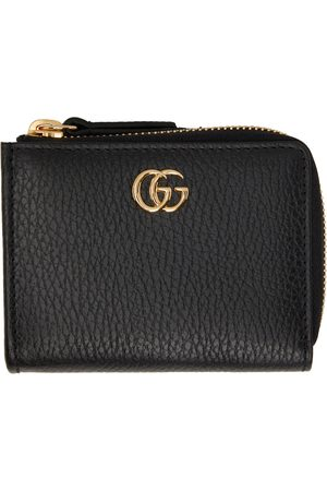 Gucci Black Small GG Marmont Zip Card Holder