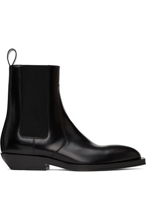 Bottega Veneta Black Chisel Chelsea Boots
