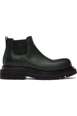 Bottega Veneta Green Low 'The Lug' Chelsea Boots