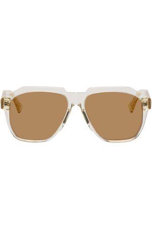 Bottega Veneta Transparent Acetate Square Sunglasses