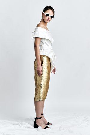 DALB DARING Skirt (Sequinned Pencil Skirt with Side Panels)