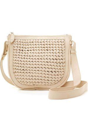 Bell & Fox Caro Weave Crossbody/Clutch Bag-Powder