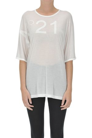 Nº21 Women Short Sleeve - Designer logo modal t-shirt
