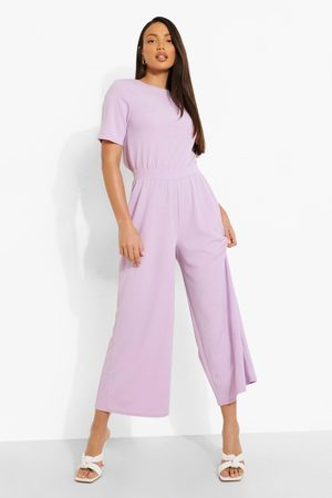 Boohoo Womens Tall Open Back Cullotte Jumpsuit - - 2