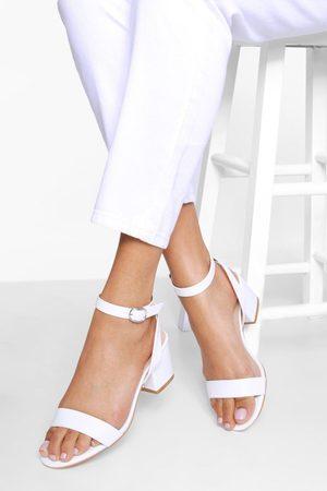 Boohoo Womens Wide Width Basic Low Block Heel - - 5