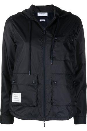Thom Browne Women Rainwear - Zip-up hooded jacket