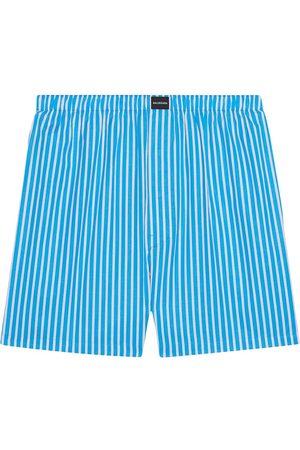 Balenciaga Men Boxer Shorts - Striped logo-patch boxer shorts