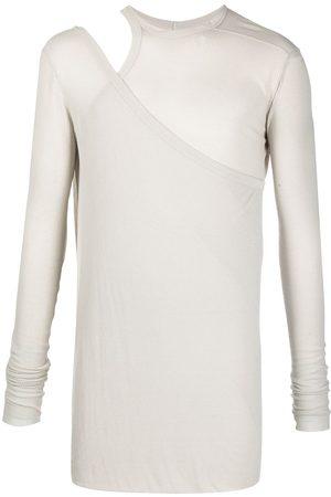 Rick Owens Cut-out shoulder T-shirt - Neutrals
