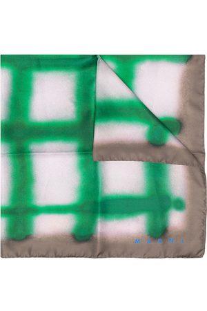Marni Spray-effect silk foulard