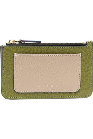 Marni Saffiano leather flat wallet