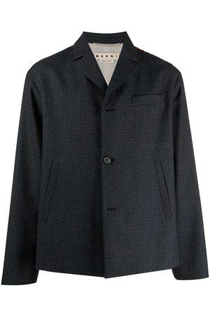 Marni Check-pattern single-breasted blazer