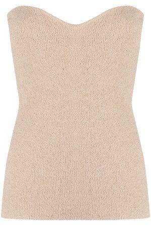 Nanushka Women Strapless Tops - Tua strapless top - Neutrals