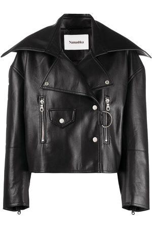 Nanushka Women Leather Jackets - Ado biker jacket