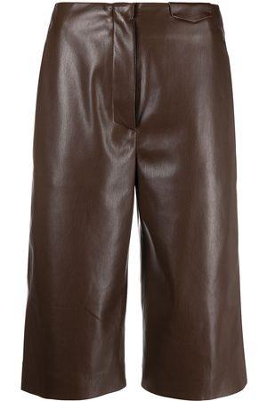 Nanushka Women Shapewear - Slim-cut leather shorts