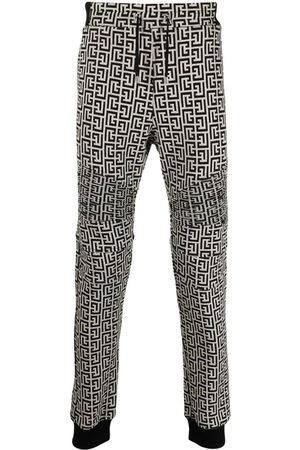 Balmain Men Sweatpants - Monogram track pants