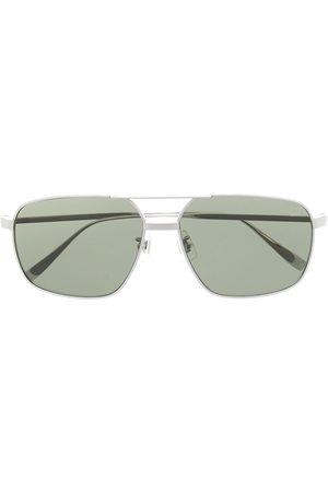 Dunhill Men Aviators - Angular hammered-arm aviator sunglasses