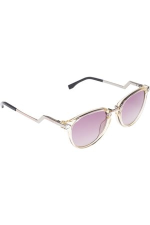 Fendi Silver/ Iridia FF 0039/S Round Sunglasses