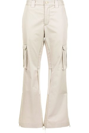 Dion Lee Women Cargo Pants - Flared cargo trousers - Neutrals