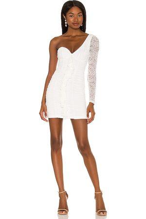 MAJORELLE Karissa Mini Dress in Ivory.