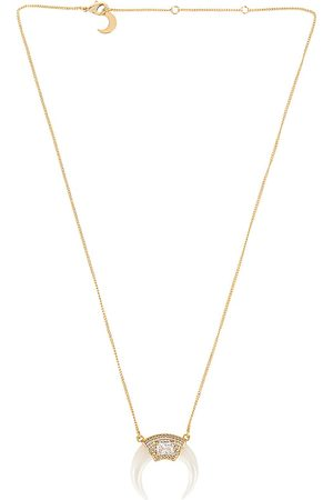 Lili Claspe Moby Horn Necklace in Metallic .