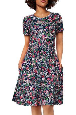 Leota Maci Floral Print Fit And Flare Dress