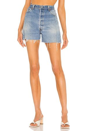 EB Denim OG Shorts in Blue.