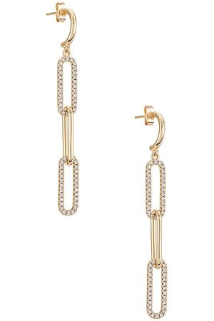 Lili Claspe Ever Link Duster Earrings in Metallic .